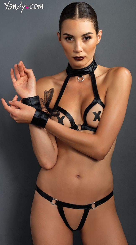 Sweet temptations leather lingerie
