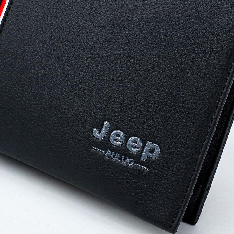 JEEP BULUO  luxury Men Clutch Wallets Long Wallet Purse Large Capacity Handbags