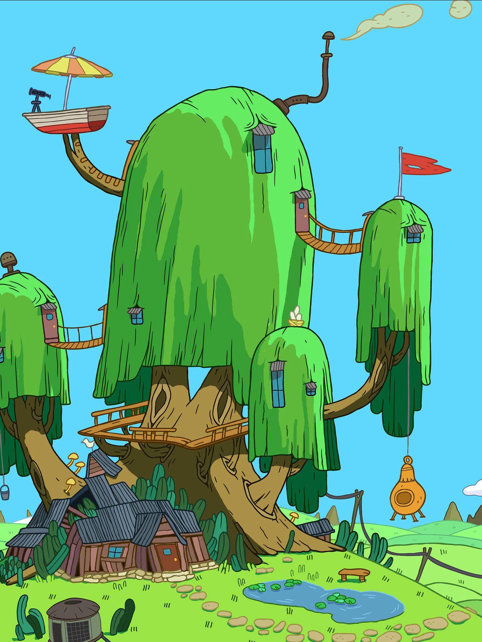 b3e794cb0cccca Finn and Jake s Treehouse!