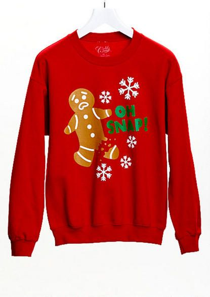 Oh Snap Gingerbread Man Sweatshirt Christmas Tees Graphic Tees
