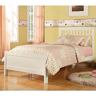 Oxford Creek Twin Bed In White Kmart 154 Twin Trundle Bed