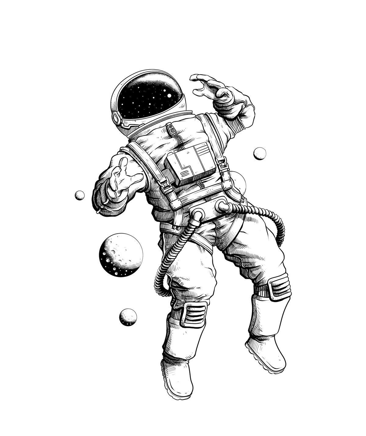 astronaut space drawing - photo #4