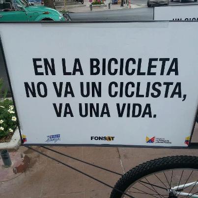 En la bicicleta viaja una vida