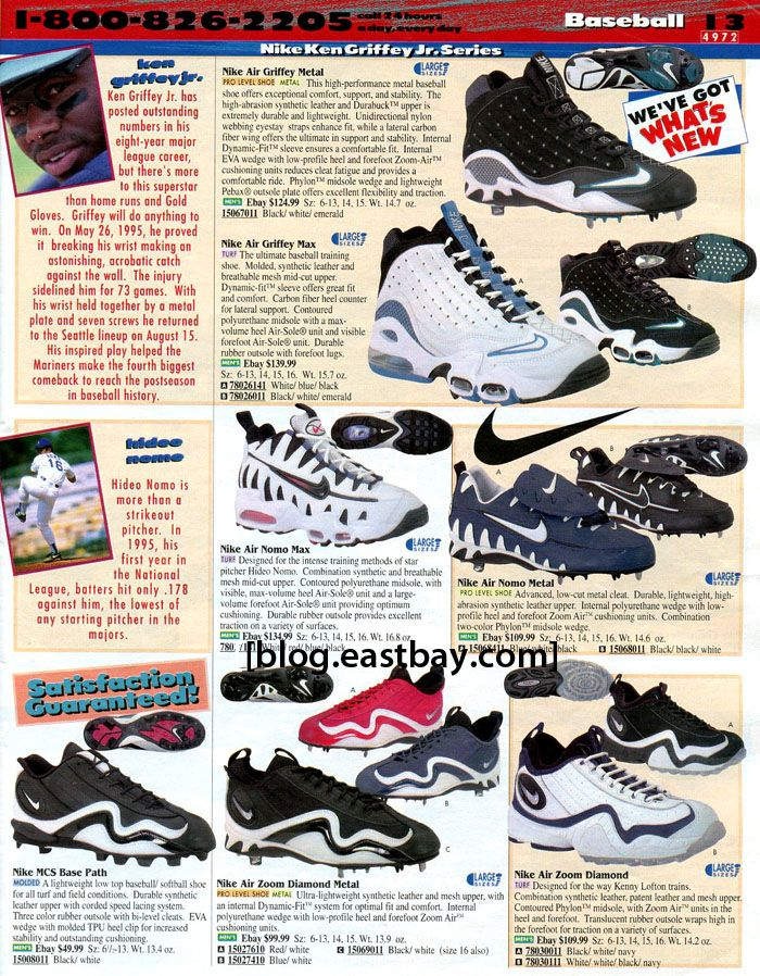 soplo crisantemo Hornear  Eastbay Memory Lane: Nike Baseball 1997 | Eastbay Blog | Nike, Classic  sneakers, Sneakers