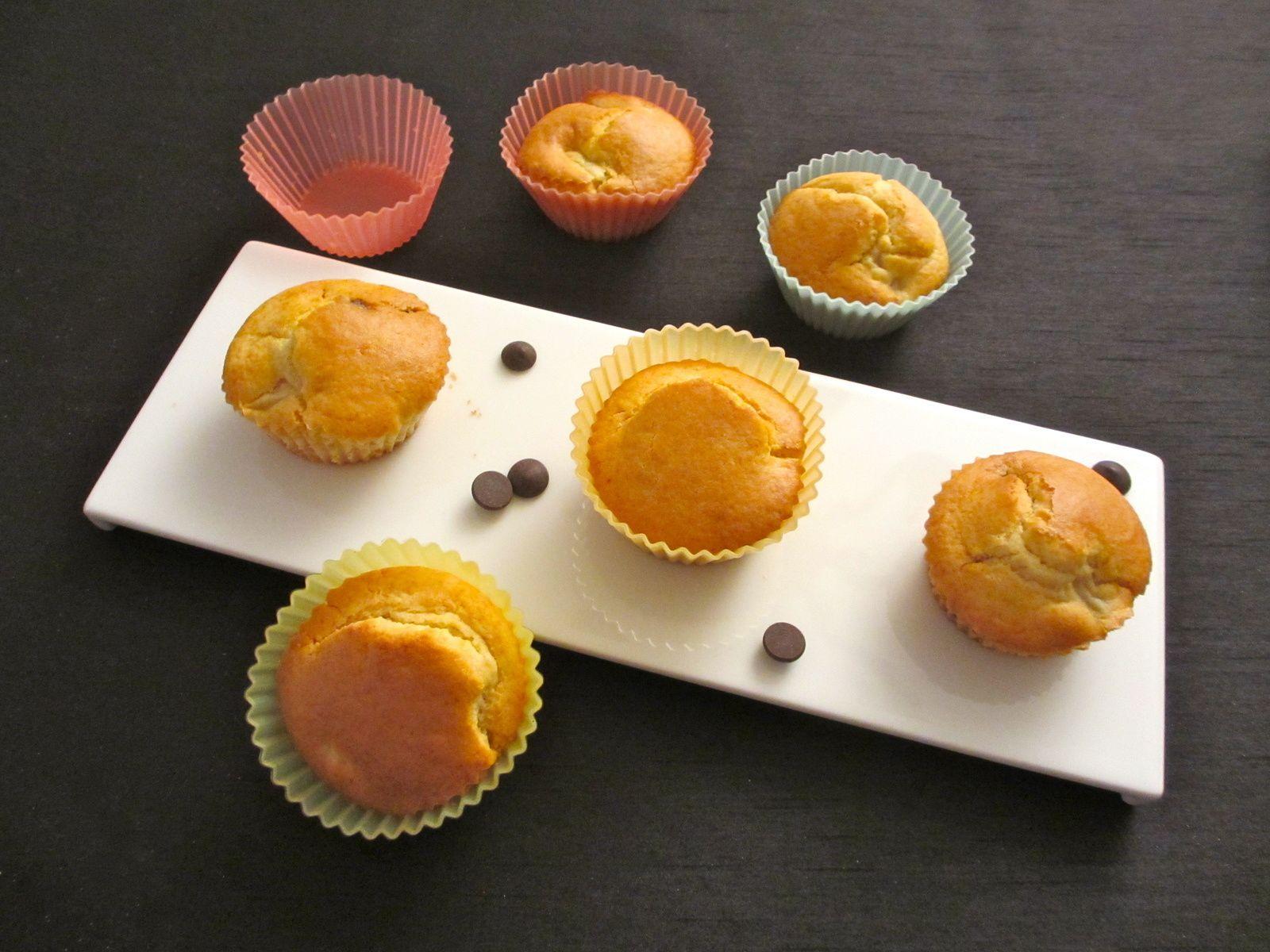 Pour 12 muffins Temps de préparation : 10 minutes Temps de cuisson : 20 minutes Ingrédients : - 70 g de farine - 70 g de fécule de maïs - 50 g de beurre - 50 g de sucre - 1/2 sachet de levure chimique - 1 oeuf - 40 g de pépites de chocolat (Newtree) -...