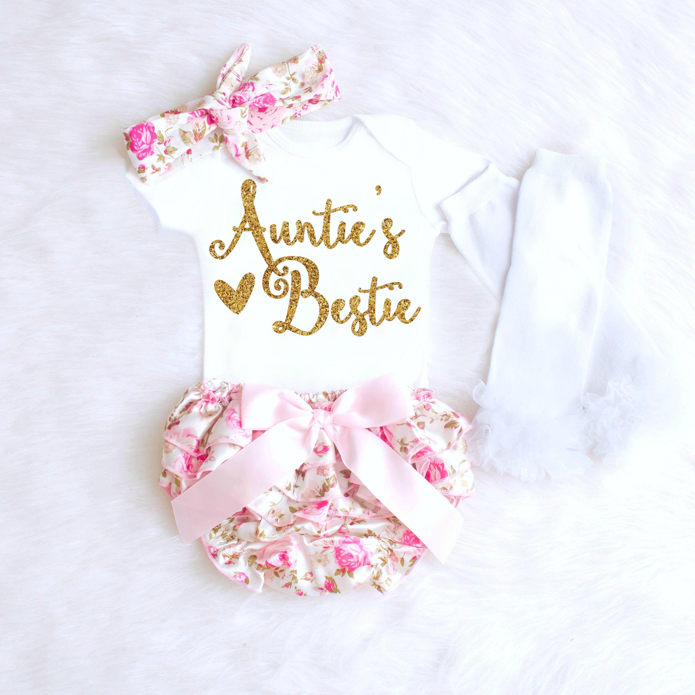 Baby Gift Aunt : Aunt onesie baby shower gift aunties bestie girl