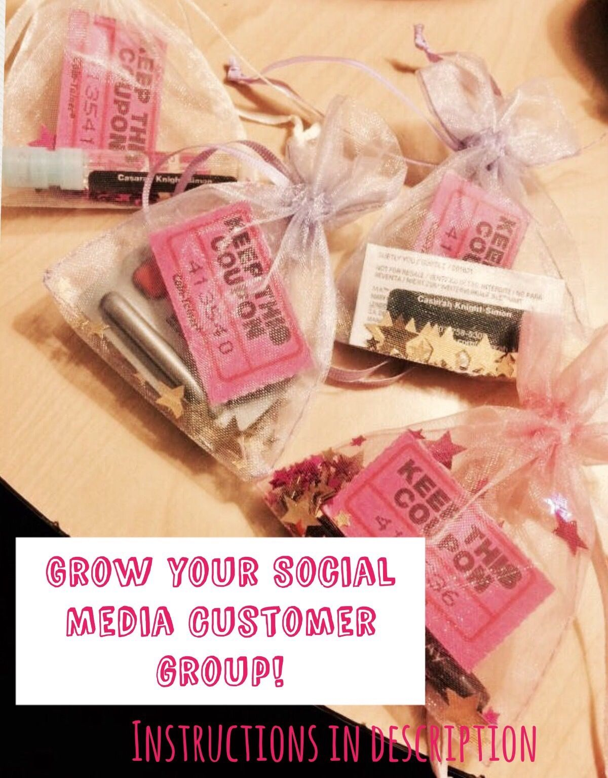 Great idea to add people to social media group after giving a sample ...