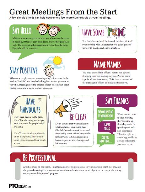 Tips for having great PTO or PTA meetings! | Meetings - PTO