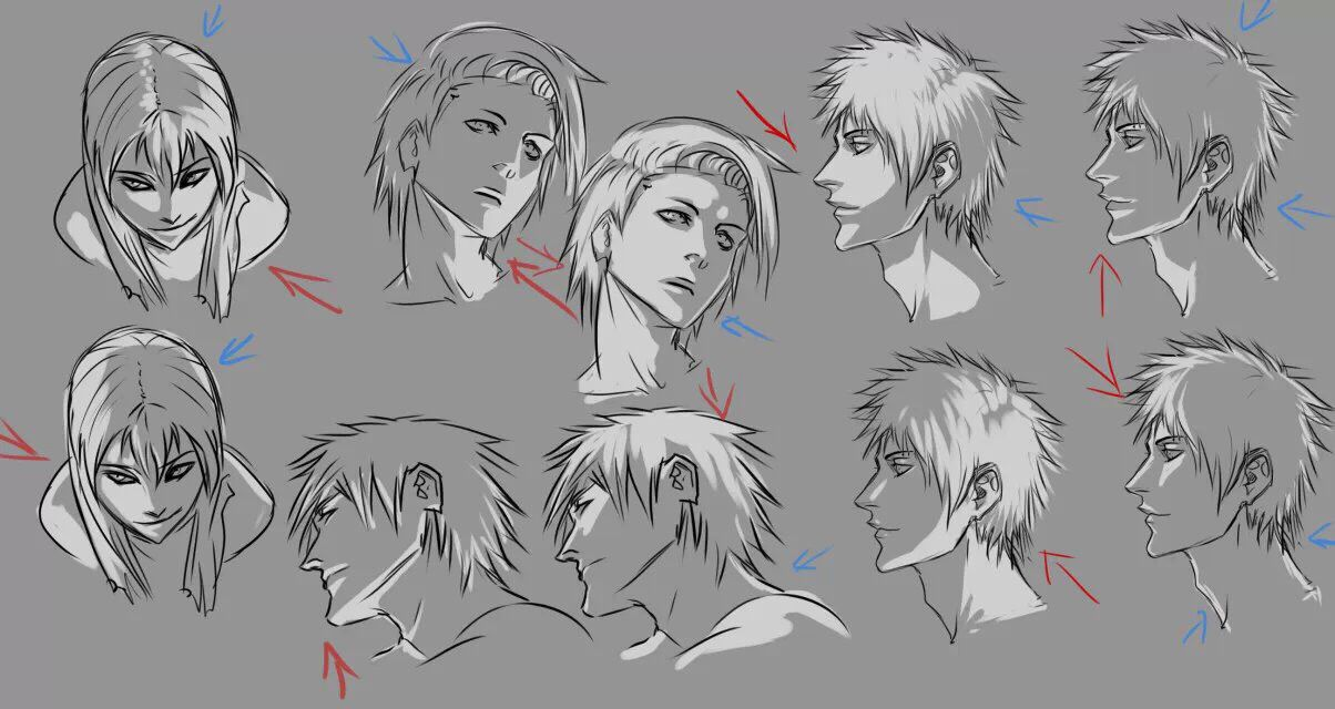 General Light Source Reference For Anime Art Drawings Anime Art Tutorial Guy Drawing