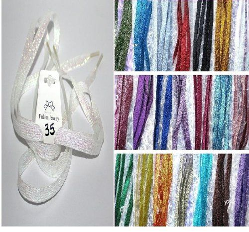 """Shimmery 44"""" Multicolor Solid Flat Shoelaces for Teams Cheer Dance Gifts Sneakers Accessories (White # 35) Cozy Glamour http://www.amazon.com/dp/B00EEEY4BO/ref=cm_sw_r_pi_dp_S1A5tb105A9JA"""
