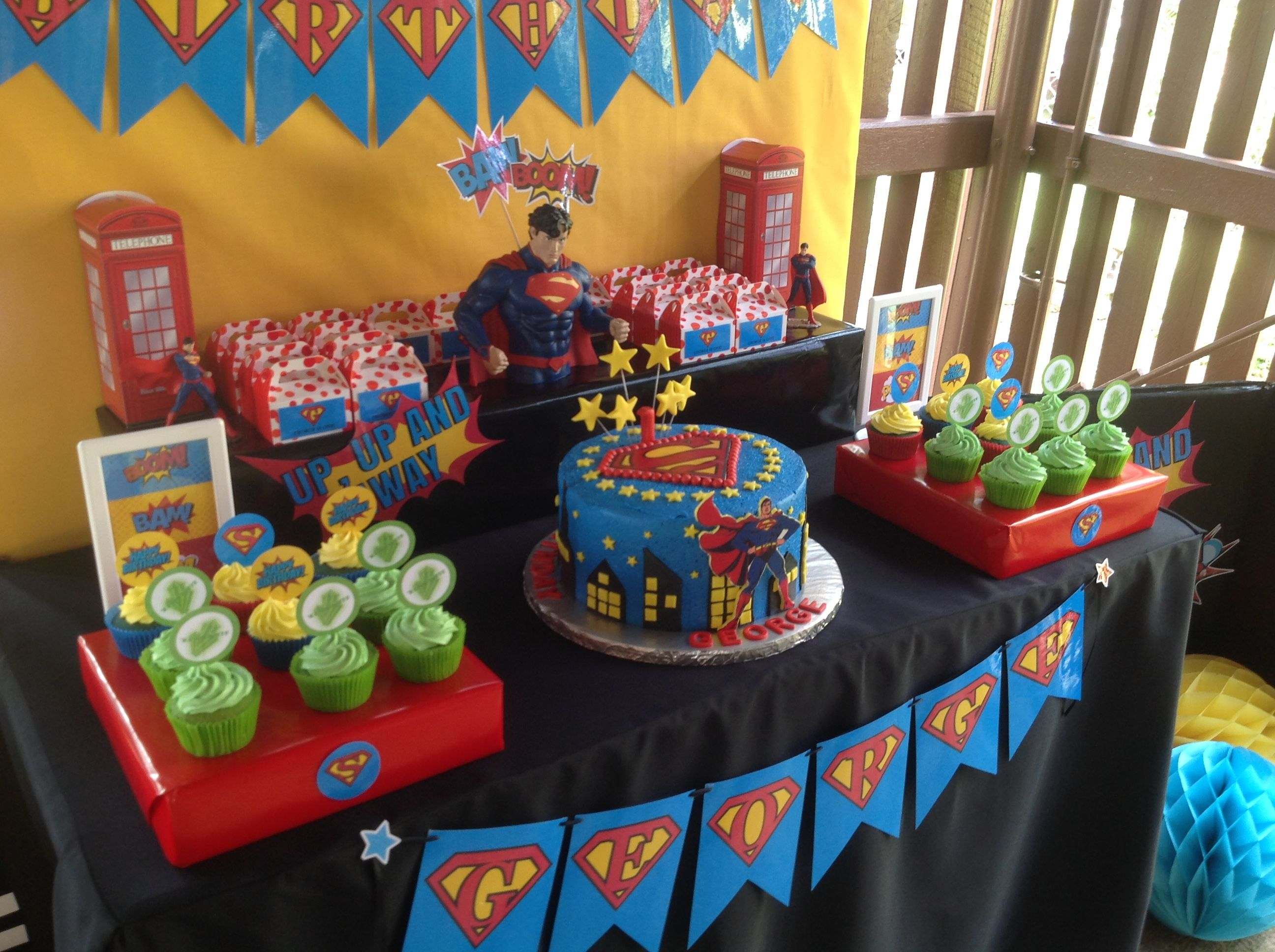 Superman Themed First Birthday