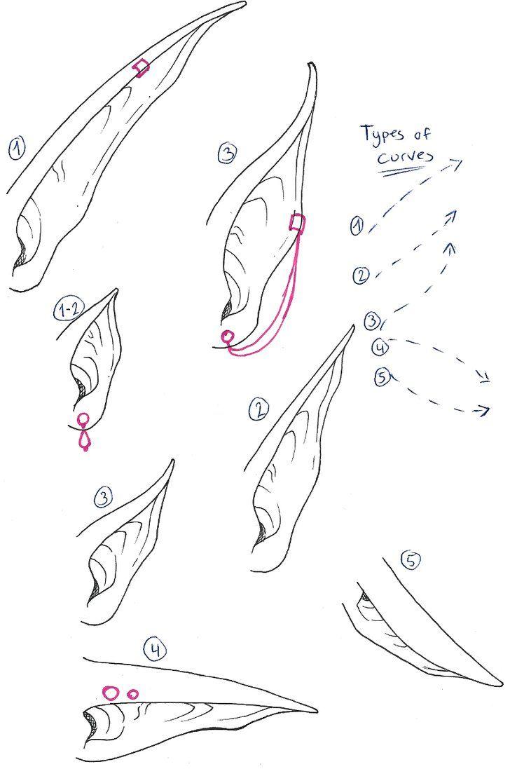 Fantasy Ears By Mangaanimelover Elf Drawings Fantasy Drawings Demon Drawings