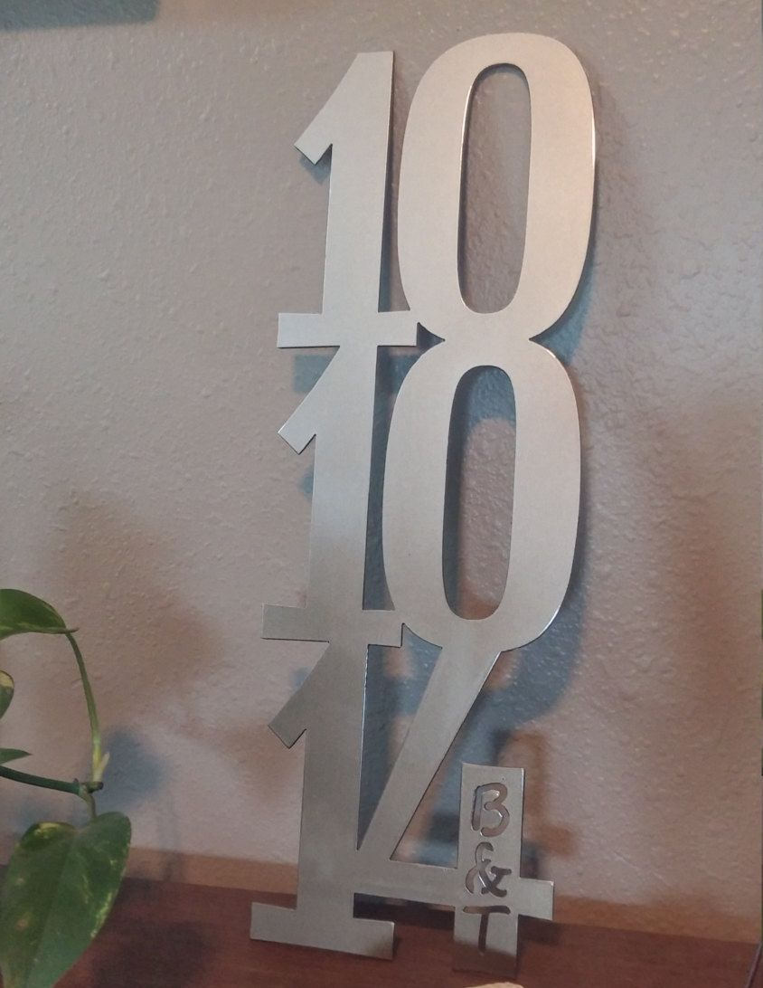 Custom Metal Decorative Signs Stunning Custom Anniversary Date Sign Metal Special Date Sign Steel Decorating Inspiration