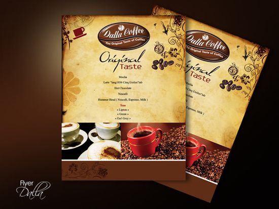 30 Inspirational Double Sided Flyer Designs Inspirational - coffee shop brochure template