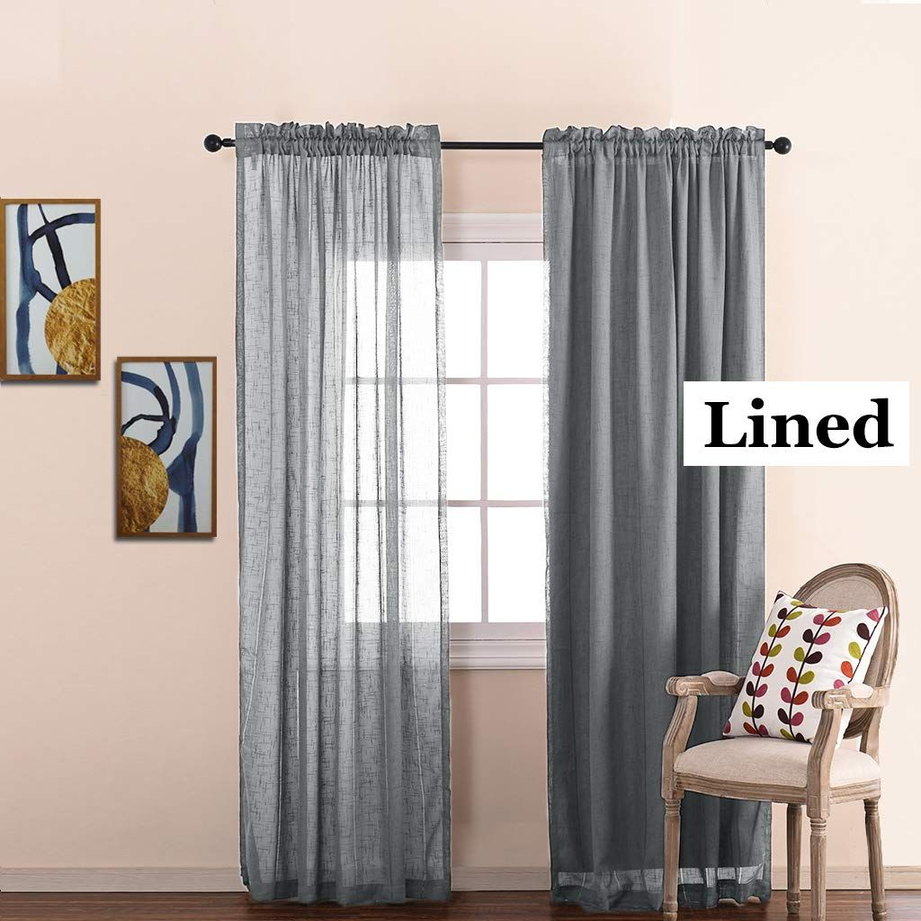Nicetown White Curtain Liner Panels Black Out Drapes Liners For 63