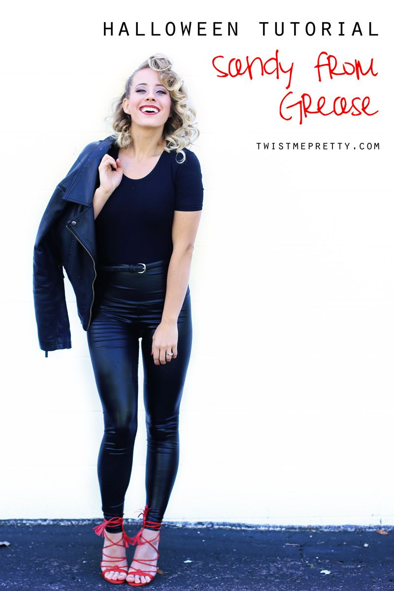 Sandy From Grease Hair Tutorial Grease Hairstyles Sandy Grease Hair Grease Outfits