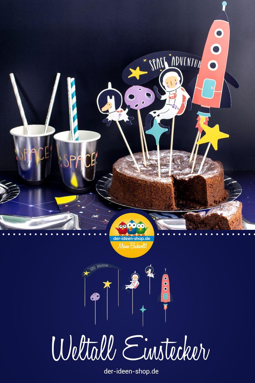 1 Cake Topper Set Weltall Weltraum Weltraum Weltall Und