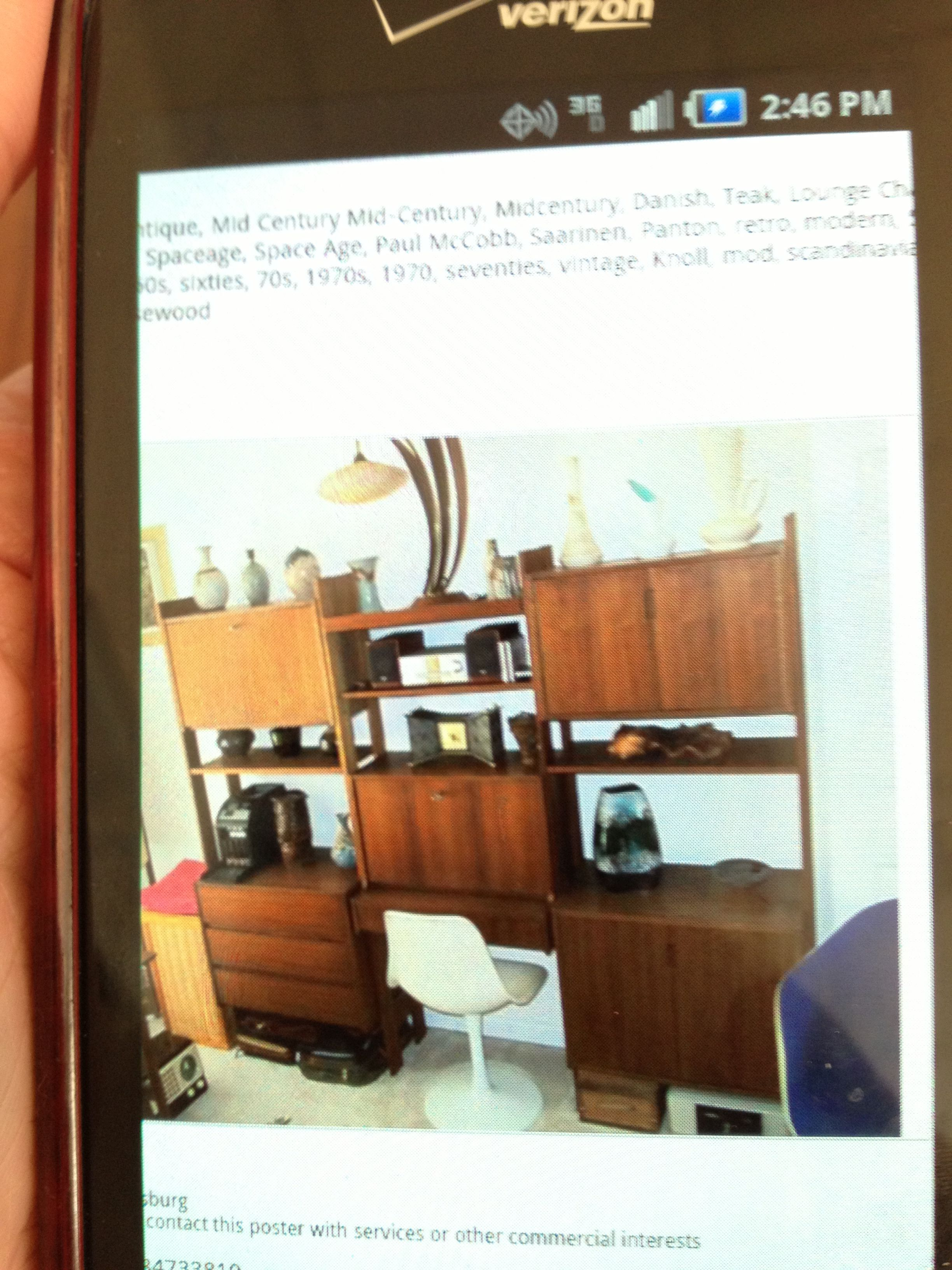 Mid Century Modular Office Wall Unit From Craigslist 750 Guest Room Office Office Walls Wall Unit