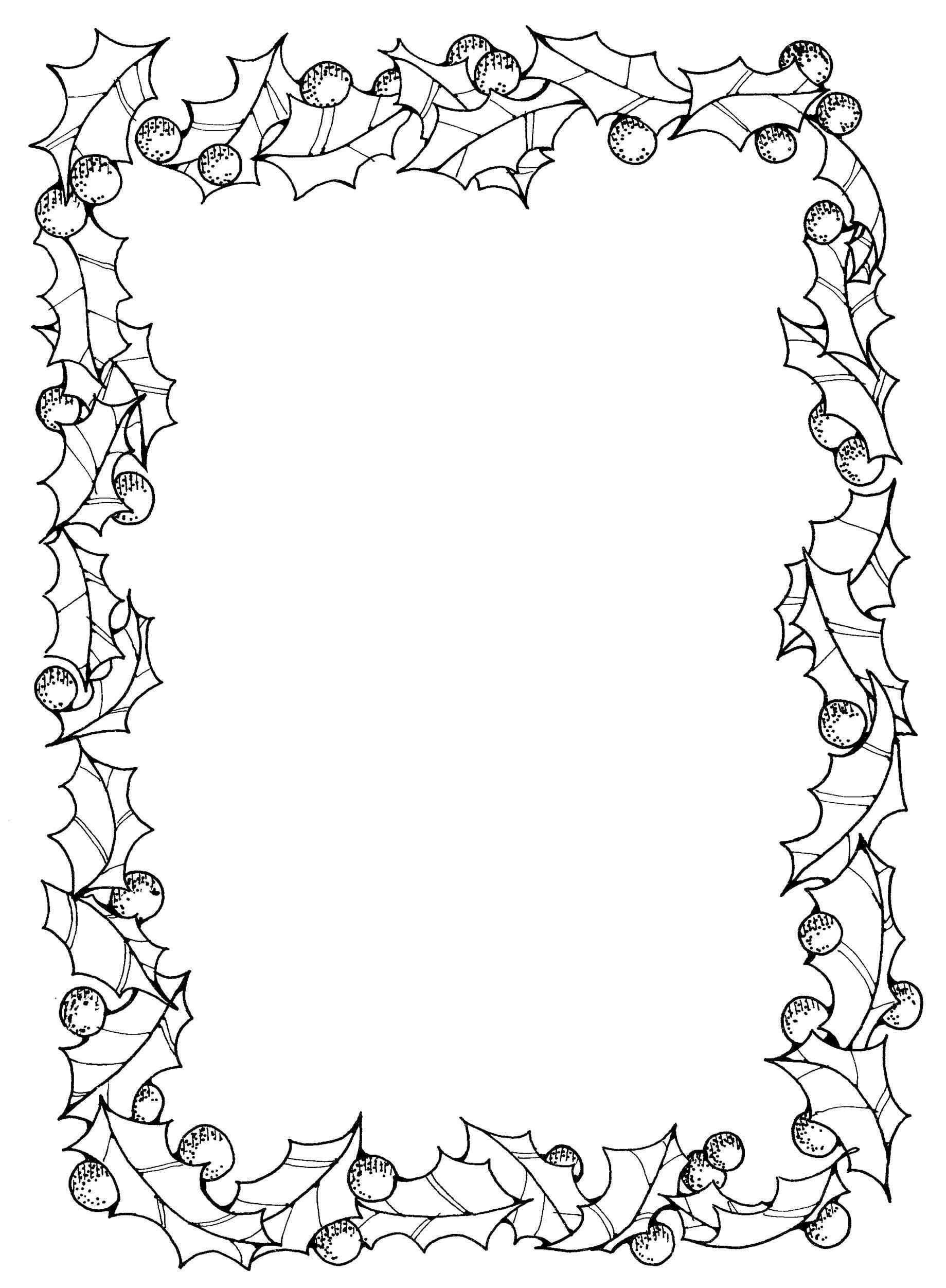 New Christmas Page Borders Black And White At Temasistemi