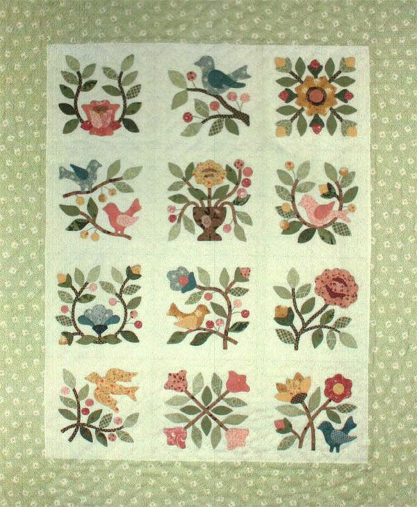 Songs of Spring Quilt Pattern by Quilt Designs by Lori Smith at KayeWood.com