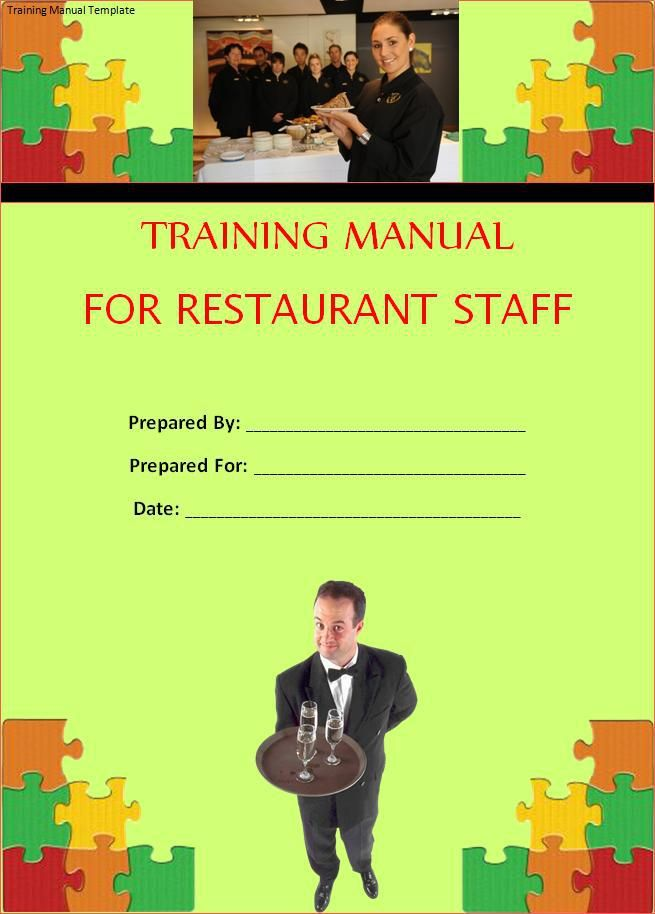 Training Manual Template printableform Pinterest Template