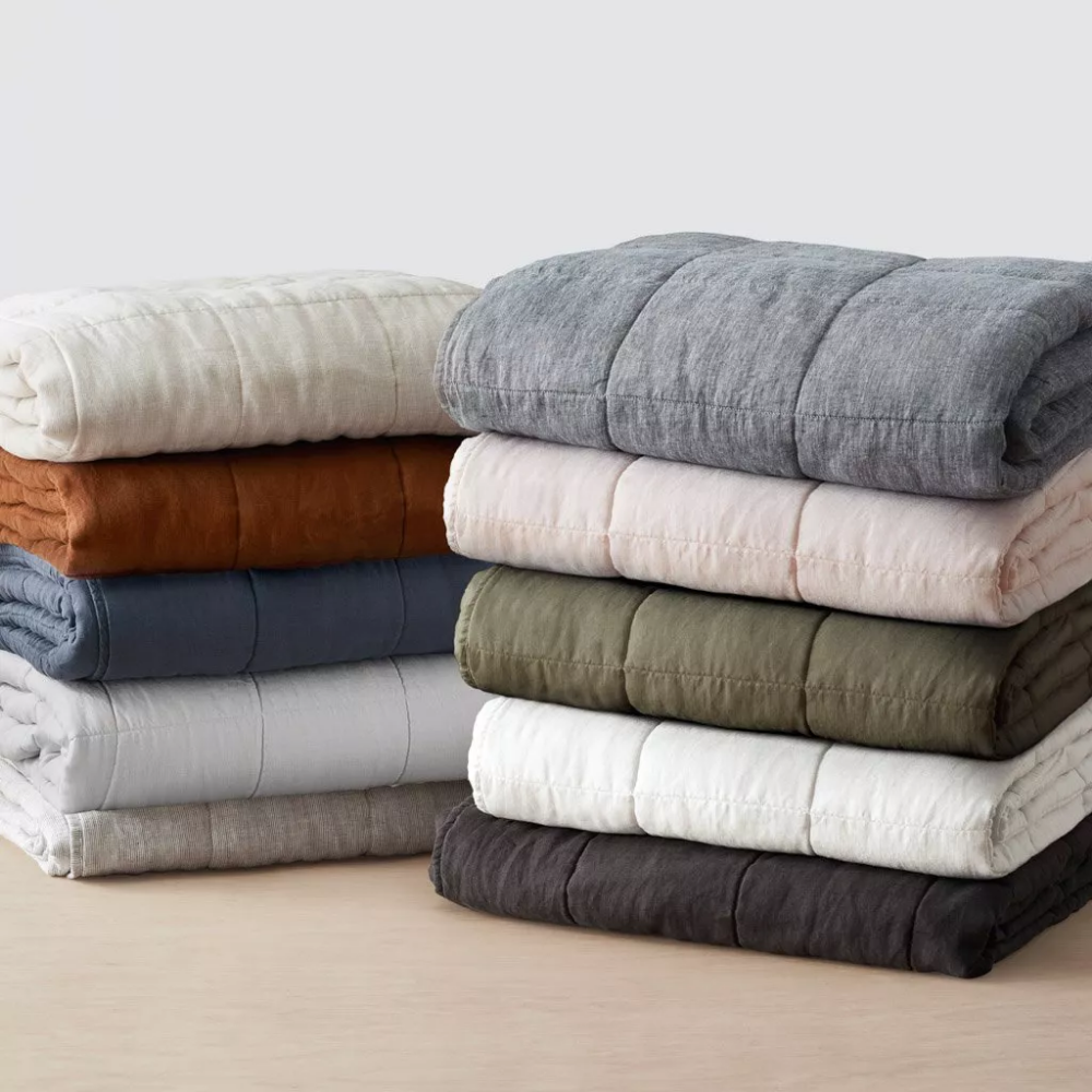 These Modern Quilts And Coverlets Will Keep You Cozy All Year Long In 2020 Linen Quilt Bed Maker Linen Comforter