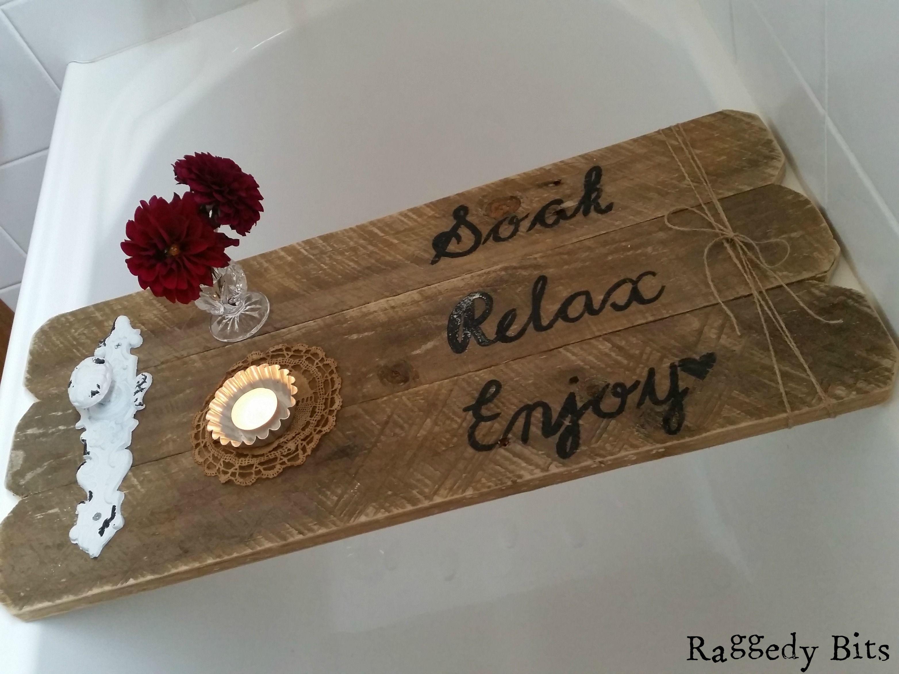 DIY Rustic Pallet Bath Caddy | Bath caddy, Pallets and Bath