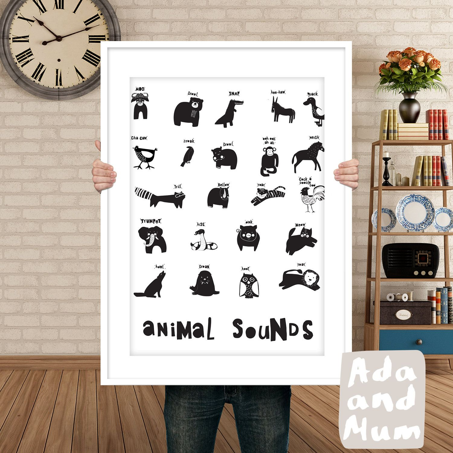 list of 22 animal sounds great fun with your kid black and white
