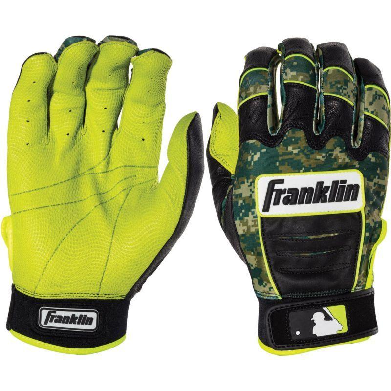 green and black batting gloves