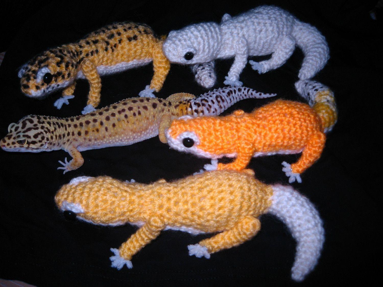 RESERVED FOR bijourubybandit_Leopard gecko amigurumi x 2 ...