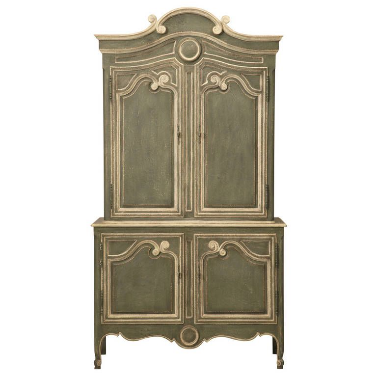 Attirant Vintage Baker Country, French Style Armoire Or Buffet Deux Corps