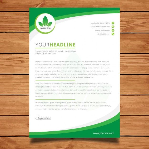 best free letterhead design mockup vector and psd templates - best free letterhead templates
