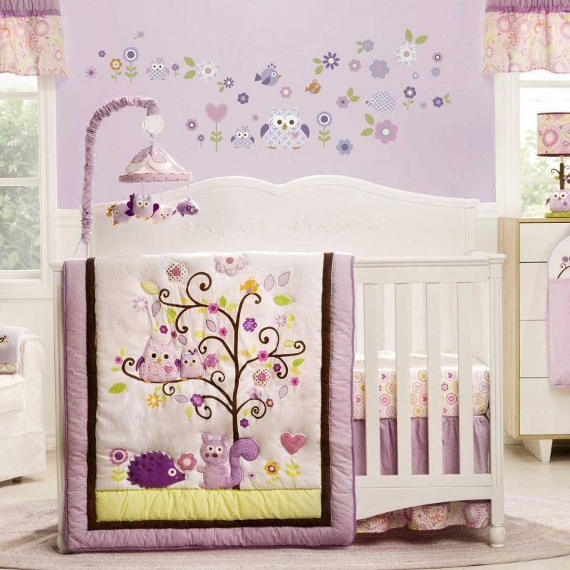bed baby bath purple girl bedding crib sets