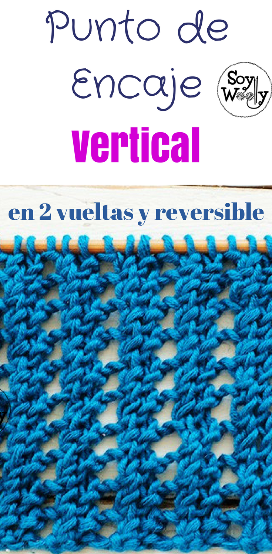 Punto de Encaje Reversible en dos vueltas | Pinterest | Punto de ...