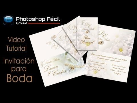 Invitacion Para Boda Photoshop By Yanko0 Invitaciones De