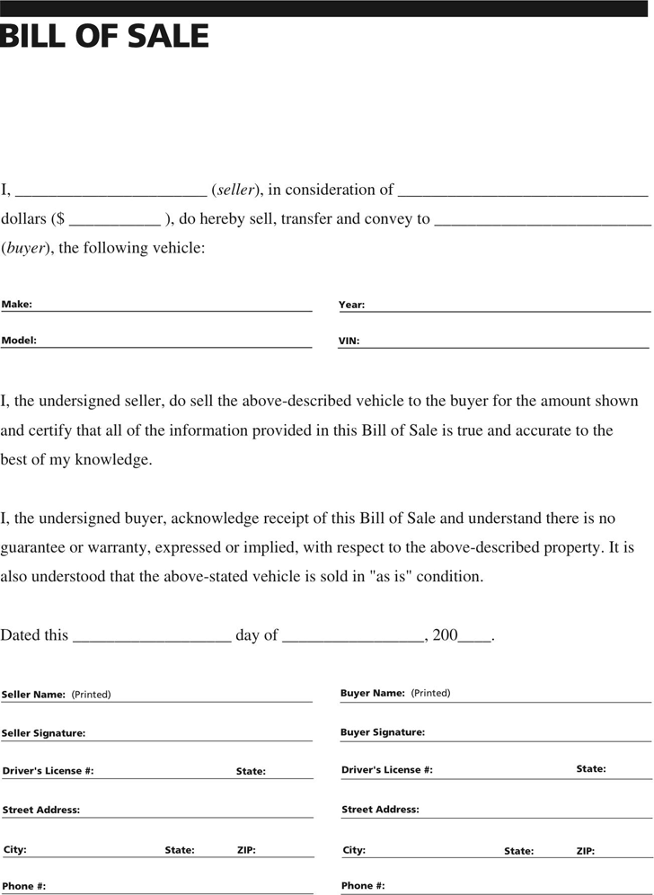 General Vehicle Bill Of Sale Form Download The Free Printable Basic Bill Of Sale Blank Bill Of Sale Template Application Cover Letter Funeral Program Template
