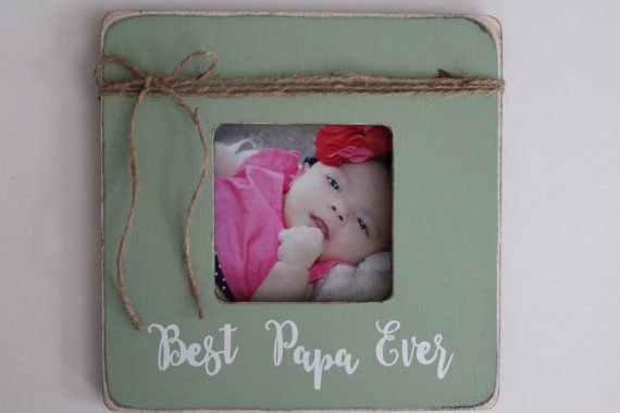 Papa Picture Frame, Best Papa Ever Picture Frame, Rustic Papa Frame ...