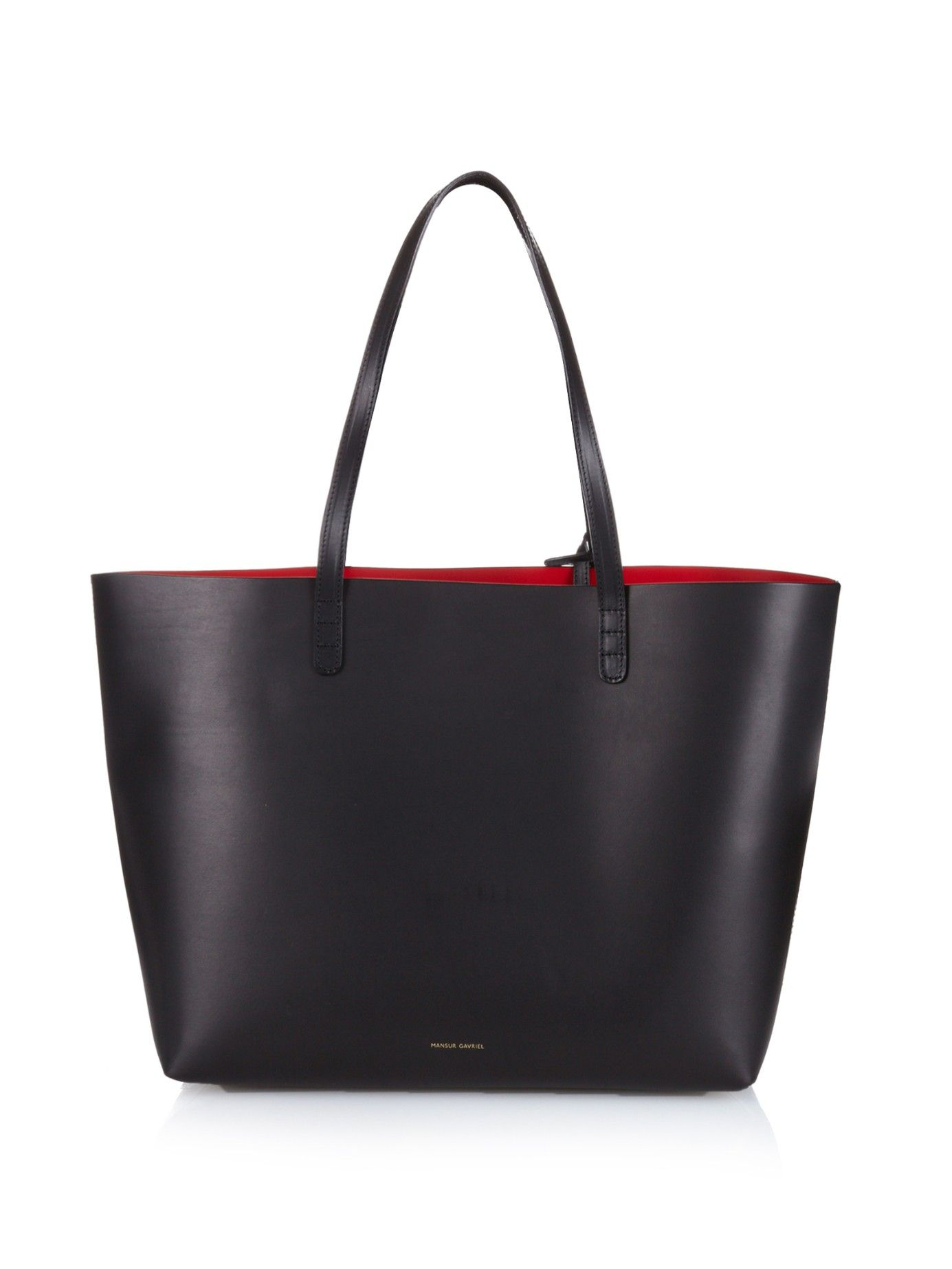 Silver leather tote bag uk - Large Red Lined Leather Tote Mansur Gavriel Matchesfashion Com Uk