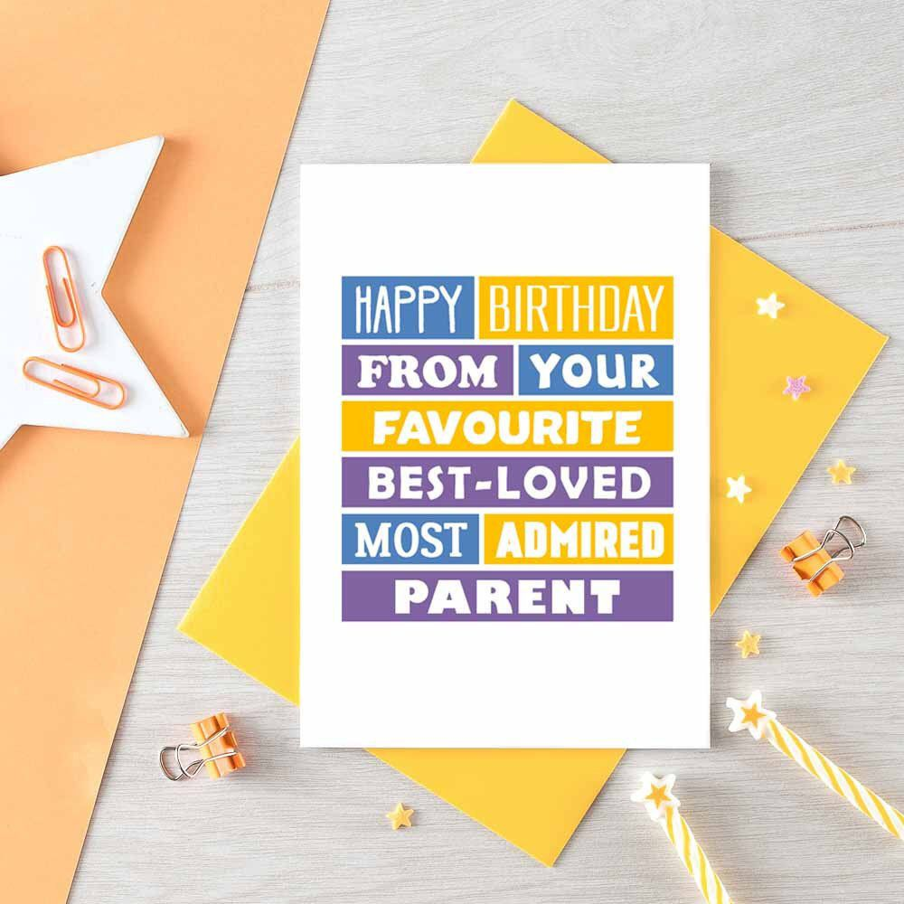 Funny Birthday Card Son Daughter Birthday Card Favourite Parent From Mum From Dad Birthday Cards For Son Birthday Cards For Friends 40th Birthday Cards