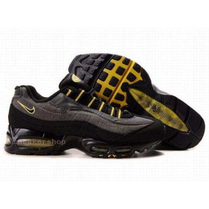 #Nike #sports Nike Air Max Shoes, Nike Mens Shoes Buy Nike Air Max 95 Mens Black Grey Yellow 69