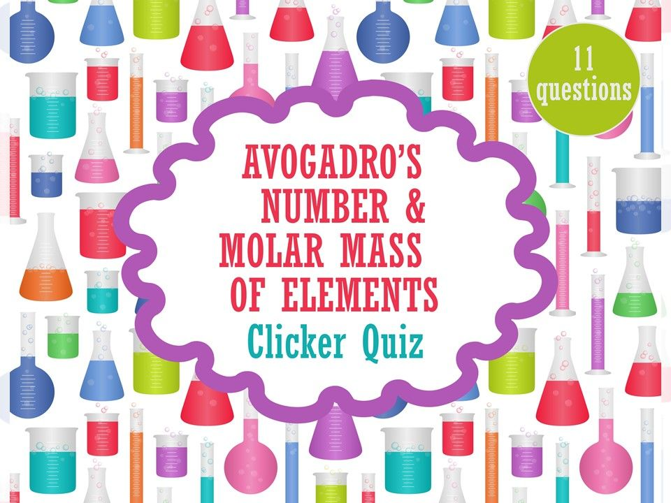 Avogadrou0027s Number \ Molar Mass of Elements Clicker Quiz with - best of periodic table with atomic mass