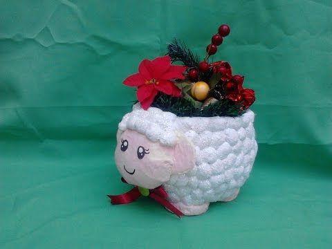 oveja florero hecha de papel - youtube   papel machÉ   pinterest