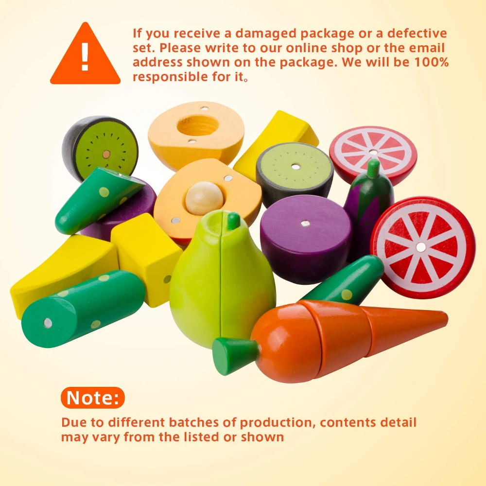 Mysunny Holz Küche Kinderspielzeug, schneiden Obst und 6utgju