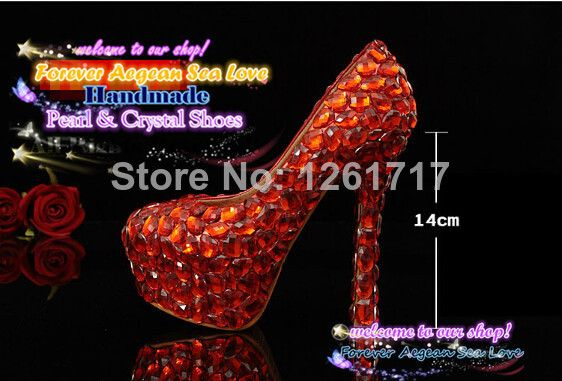 4d63323628 New 2014 Free Shipping Handmade Bling Big Red Rhinestone Crystal ...