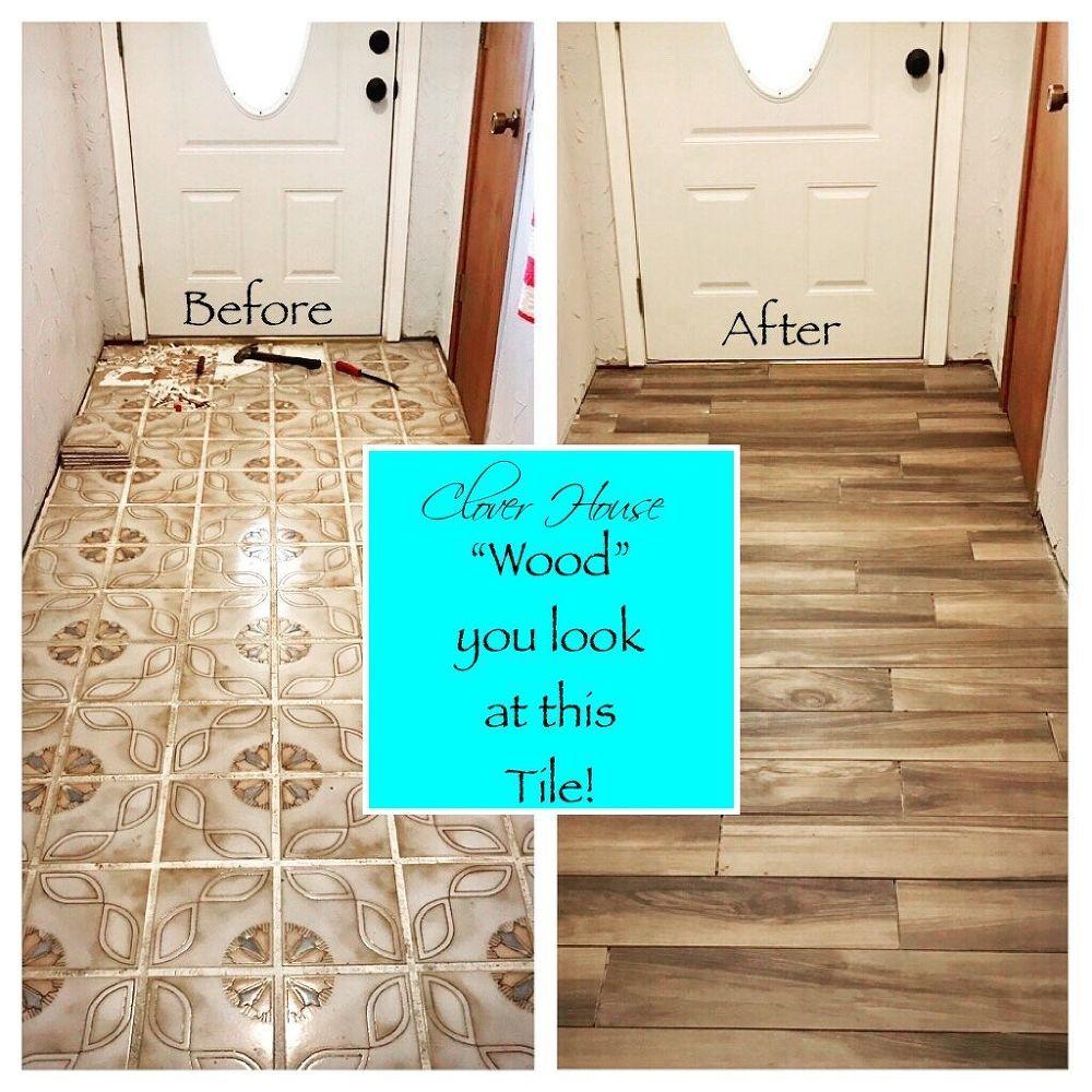 Homeowner hates her entryway floor—look how incredible it is after ...