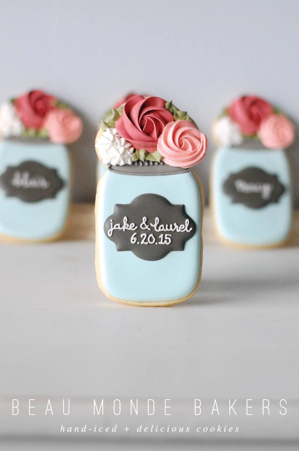 wedding mason jar cookies More wedding mason