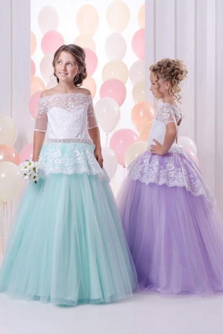 Beautiful Flower Girl Wedding Dresses Child Pageant Dresses   sauna ...