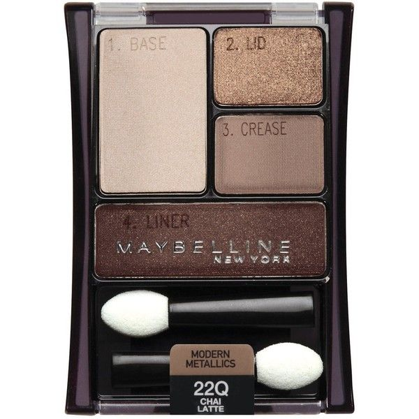 Maybelline New York Expert Wear Eyeshadow Quads, Chai Latte 22q, 0.17... ($14) ❤ liked on Polyvore featuring beauty products, makeup, eye makeup, eyeshadow, maybelline eye makeup, maybelline, maybelline eye shadow and maybelline eyeshadow