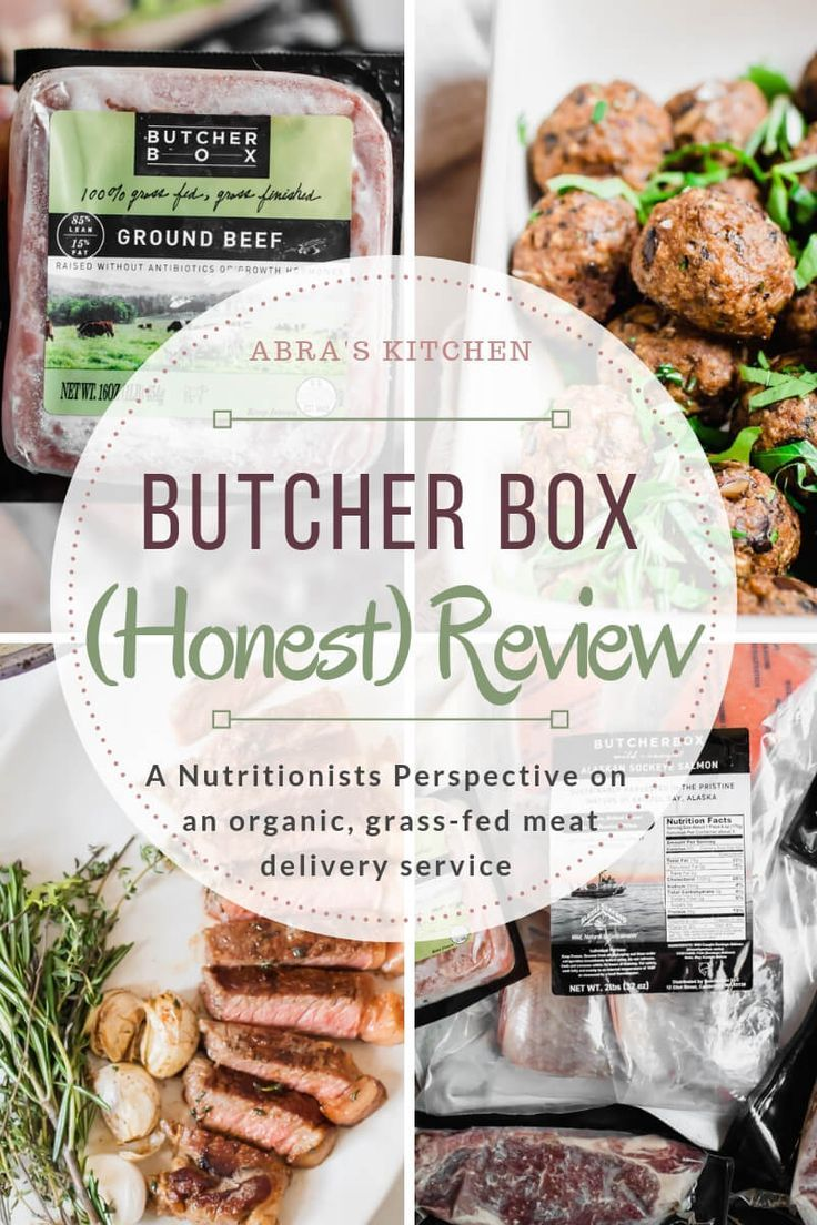 Butcher box review. Grass fed meat delivery. Nutritionist
