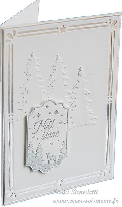 Noël en blanc pour inviter le soleil | Cartes de noël à fabriquer